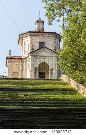 Fourteenth Chapel At Sacro Monte Di Varese. Italy