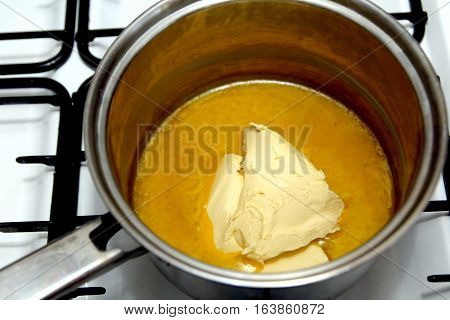 Melting Butter In A Pan On The Hob