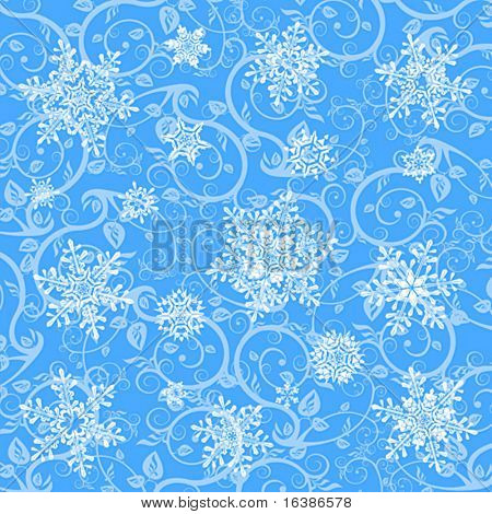 winter wallpaper & snowflakes