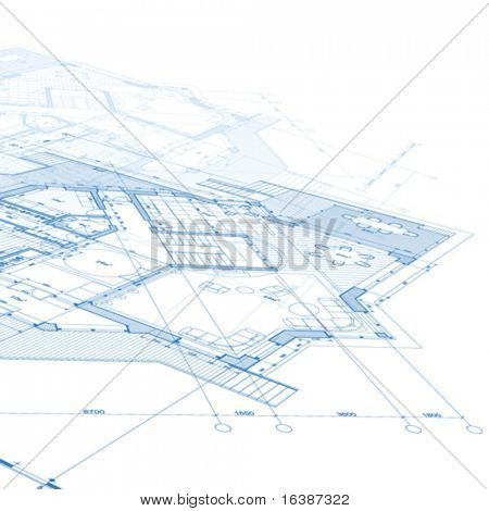 vector architecture house plan background