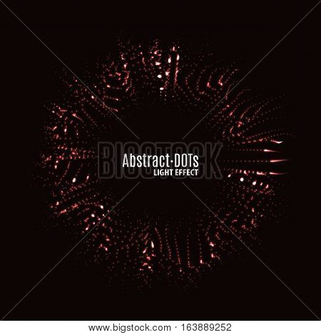 Minimalistic abstract lighten dots background vector illustration for album music or other cover. Design element of dots with same random and noise.