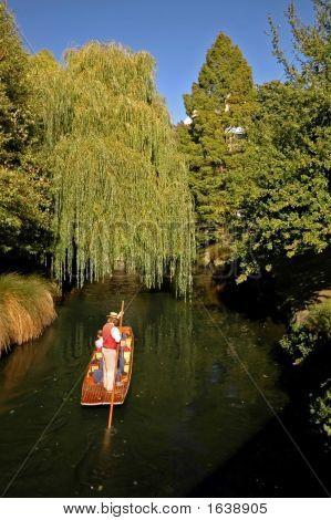 Punt On River Avon