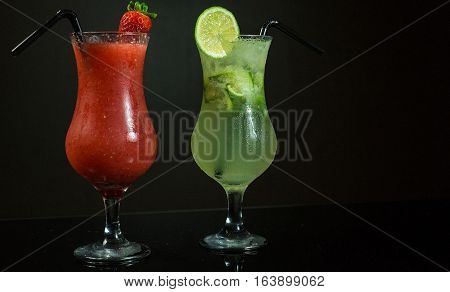 Photo Of Chilled Lemon & Strawberry Cocktails