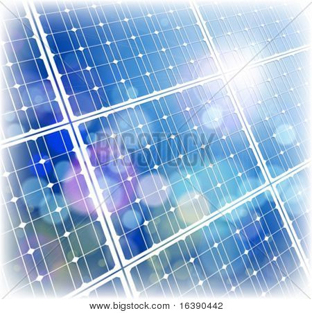 solar power panel & blue sky