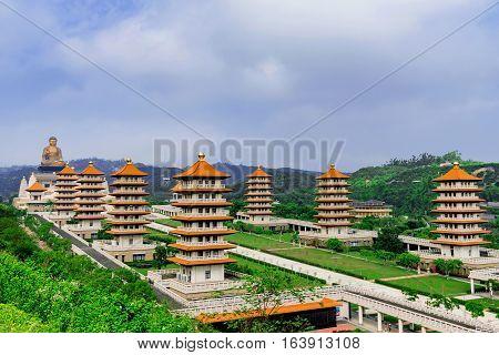 Scenic view of Fo Guang Shan buddha memorial center