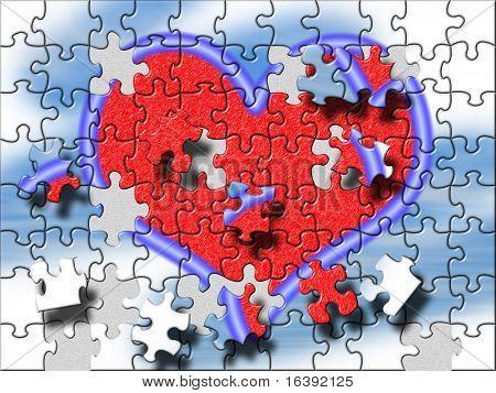big heart puzzle