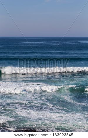 a landscape sunset atlantic coastline with waves