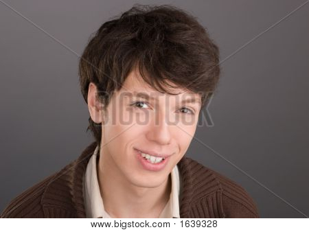 Young Businessman Friendly Smiling Portrait