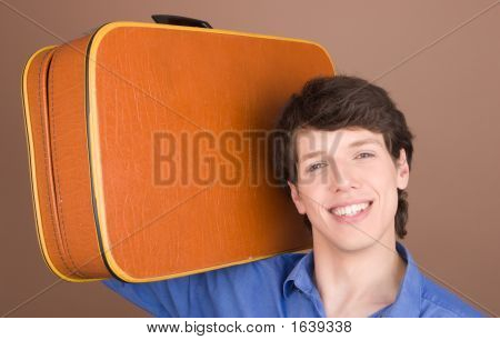 Young Traveller With Suitcase