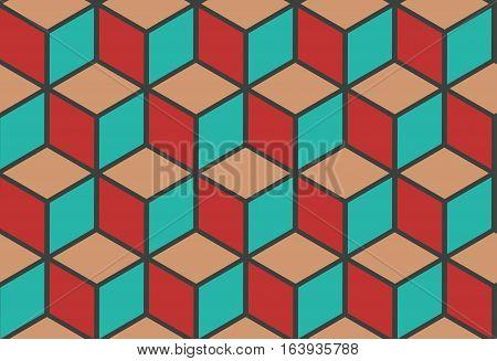 Vector stones floor tile seamless pattern. Abstract design tile wall illustration