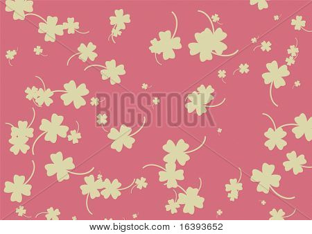 quarterfoil on pink background
