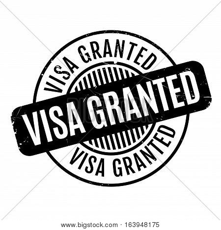 Visa Granted rubber stamp. Grunge design with dust scratches. Effects can be easily removed for a clean, crisp look. Color is easily changed.
