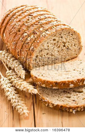 whole wheat bread on kitchen table