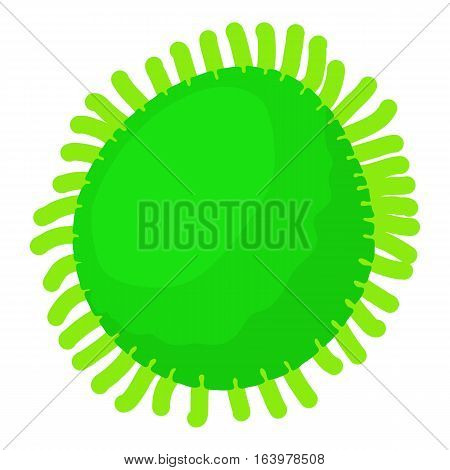 Round bacteria icon. Cartoon illustration of round bacteria vector icon for web