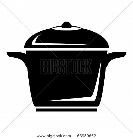 Enameled pot icon. Simple illustration of enameled pot vector icon for web