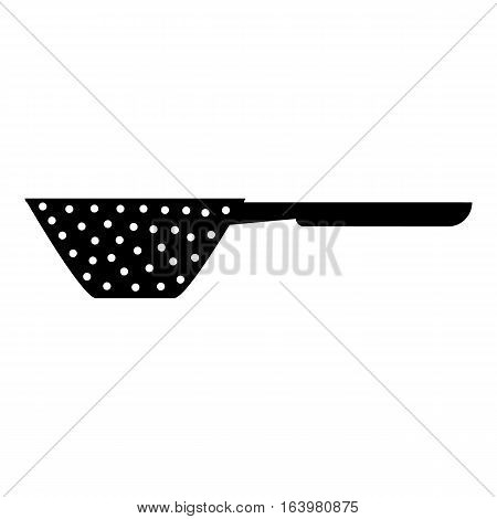 Colander with handle icon. Simple illustration of colander with handle vector icon for web