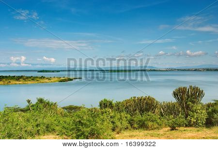 Kazinga Channel in Queen Elizabeth NP, Uganda