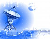 satellite dishes antenna (doppler radar)