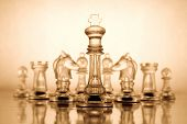 image of battlefield  - Transparent chess - JPG