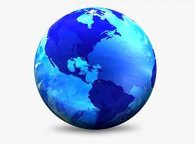 pic of world-globe  - Aqua color World Globe - JPG