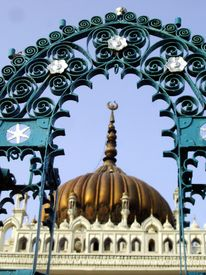 picture of muharram  - An iron gril arch in the premises of the historical chota imambada of Lucknow - JPG