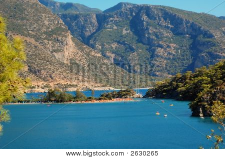 Oludeniz Lagoon And Mountains