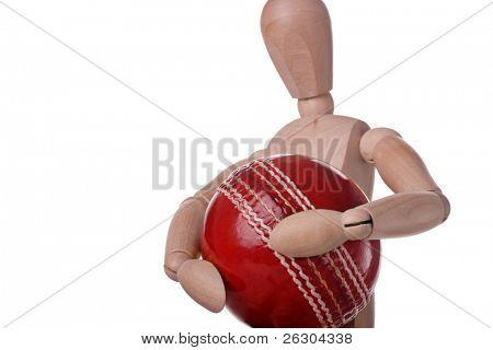 mannequin carrrying cricket ball