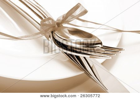 place setting for a romantic meal