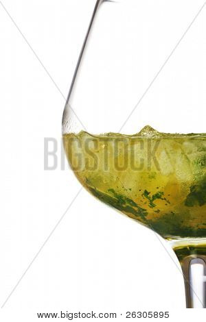 Mint julep cocktail, originating from the southern states of America. Can be made with bourbon or whisky with mint
