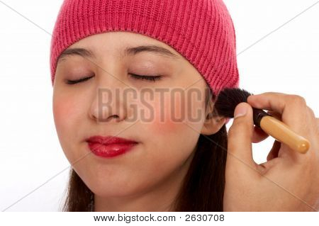 Winter Lady Putting Make Up