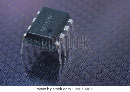 Integrierte Schaltung auf Silizium-Wafer mit chips