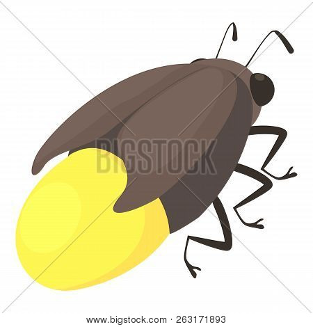 Firefly Bug Icon Cartoon Illustration