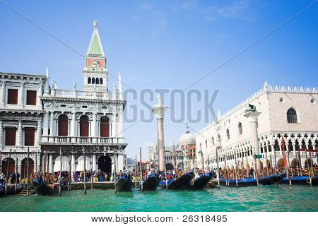 Venice - Italy, Gondolas near the San Marco on Grand channel