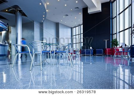 Bar interior in modern office centre