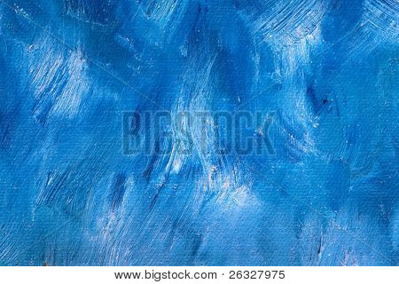 Background of detail of blue oil painting.