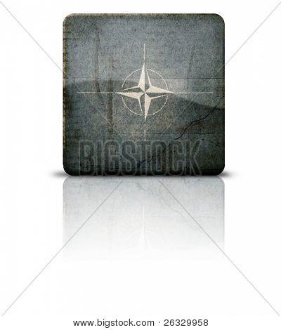 Grunge style flag of NATO