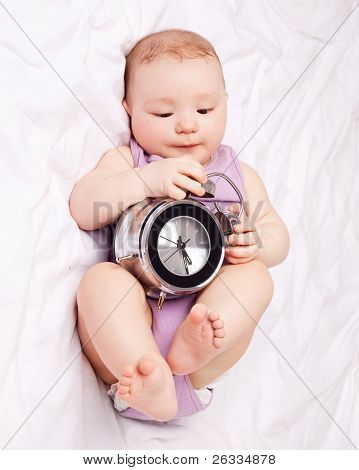 Baby With Clock