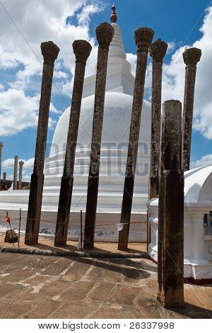 Ancient Thuparama Dagoba (stupa) in Anuradhapura, Sri Lanka