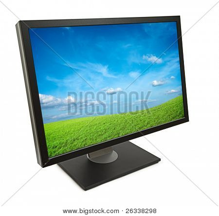 Monitor Computer isoliert