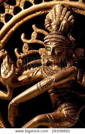 Statue of indian hindu god Shiva Nataraja - Lord of Dance close up