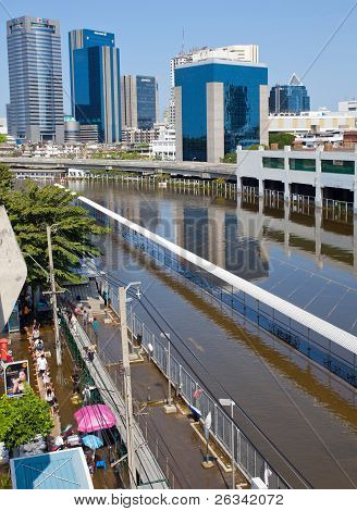 Thai Flood Hits Central Of Thailand