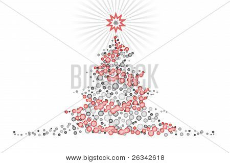 Stylized Christmas Tree Design Illustartion
