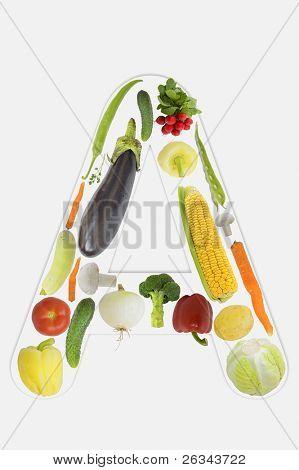 Alphabet of vegetable - A