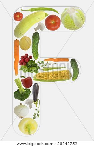 Alphabet of vegetable - F