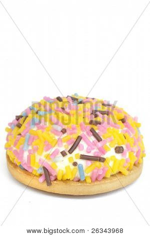 cookie with colorful sprinkles