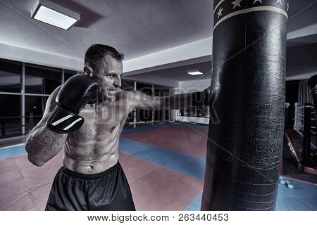 Muay Thai Fighter Working With