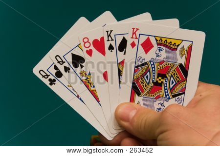 Cards With Hand 02 Poker 2 Pairs