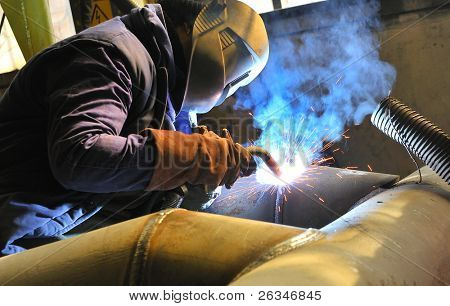 welding with mig mag method