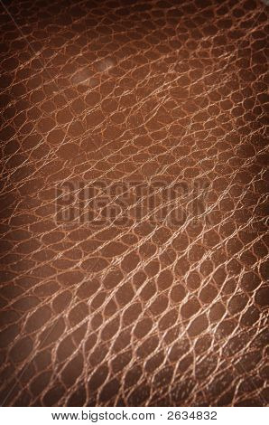 Dark Brown Crackled Leather