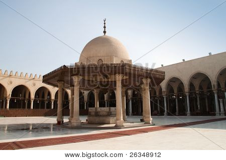 Mosque Amr Ibn al-As in Cairo, Egypt, oldest mosque in Africa.